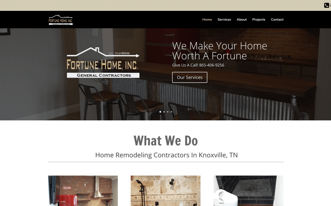 Website Design By Blue Collar Designs – Fortune Home Inc