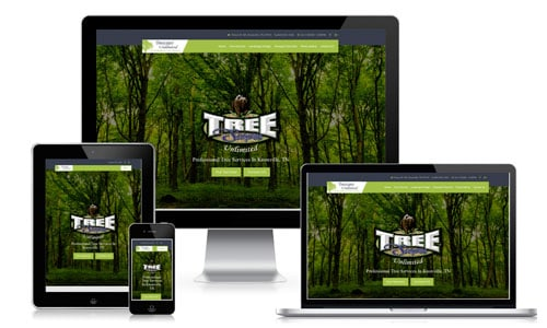 knoxville website design for tree companies