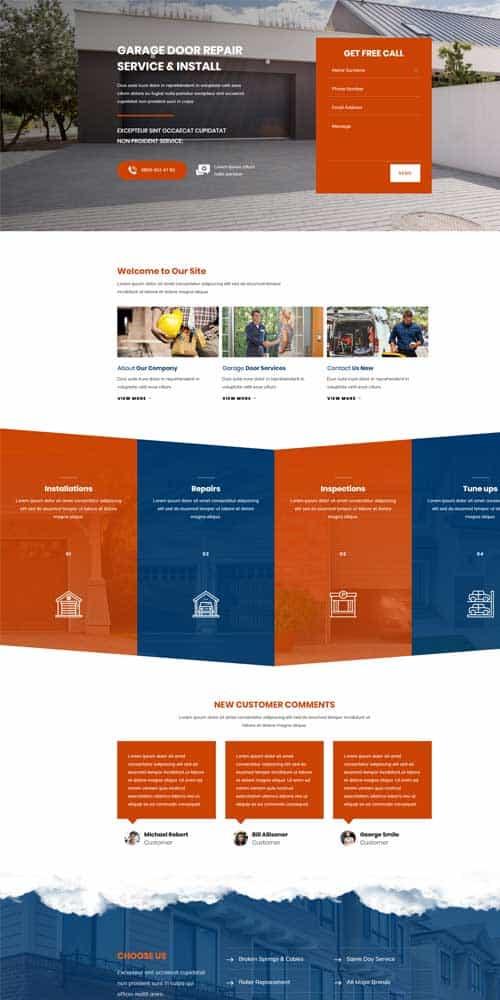 website design for knoxville garage door services